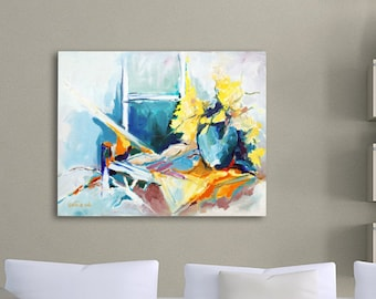 Acrylic Flower Painting, Abstract Floral Painting, Abstract Flowers, Acrylic Painting Canvas, Acrylic Painting Abstract, Blue Painting