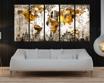 Impressive 50 large wall art canvas inspiration design of discount large wall art canvas world map canvas etsy gumiabroncs Image collections