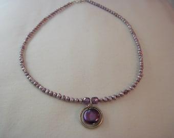 Purple Fizz Freshwater Seed Pearl Necklace