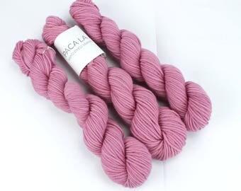 Pink Hand Dyed Yarn - Aran 50gr