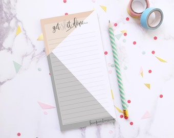 To do list ~ Student gift ~ Notepad ~ To dos ~ Gift for her ~ Checklist ~ Memo pad ~ Daily to dos ~ Desk stationery ~ Hoard Pretty Things