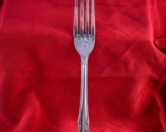 "Hand Stamped ""Fork U"" Stainless Steel Fork"