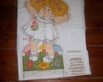 Cabbage Patch Fabric Print/Panel Pillow