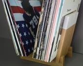 Vinyl Record Display - White Oak - LP Holder - Modern Decor - Hand-Made in USA - Bday Gift - House-warming Gift - Music Storage