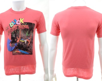 """Vintage 1980s """"The Duck Stops Here"""" Tee Shirt - SSI - Top Half Tag"""