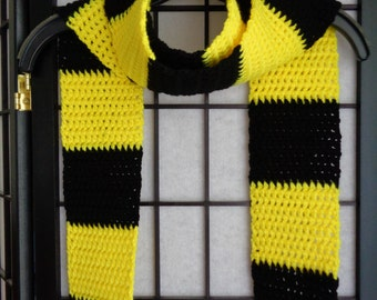 Free Shipping - Hufflepuff Crochet Scarf