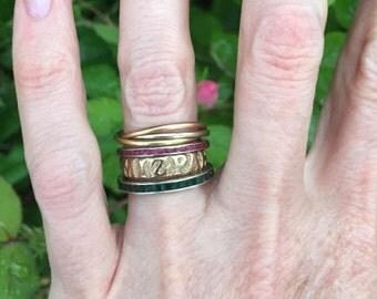 Antique 9k Rose Gold Victorian MIZPAH Ring