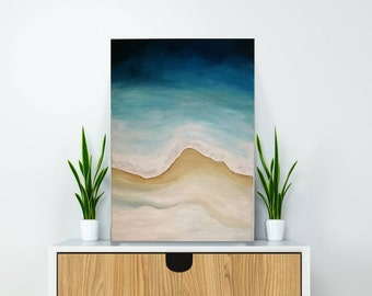 Original contemporary abstract landscape painting, Abstract original wall art,Wedding gift,home deco art,Office decoration,anniversary gift