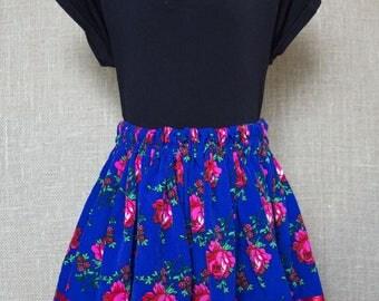Blue Girls Polish Folk Skirt