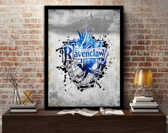Ravenclaw,House, Print, Poster, Fan Art, Harry Potter, Crest, Hogwarts, Crown