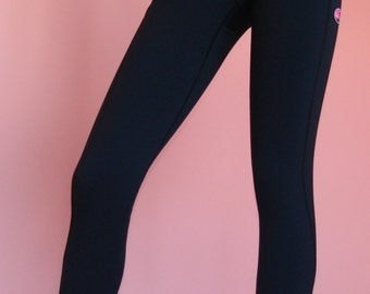 You Go Girl! Running Pant, Compression, Performance,  Flat Stitched, Fitness, Black