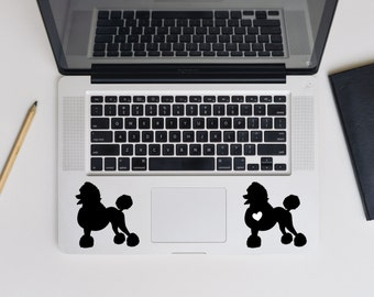 Set of 2! Poodle decal, Poodle dog decal for laptop, car, macbook, wall 3