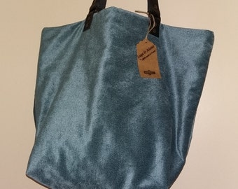 "Bag Tote ""Nejma"", reversible, purse, tote bag, handles, leather, tote bag, hobo bag, leather bag, large bag, large bag"