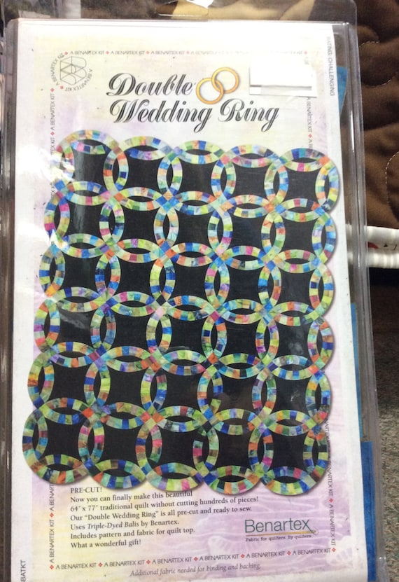 Double Wedding Ring Quilt Kit by Benartex PreCut Fabric Ready to