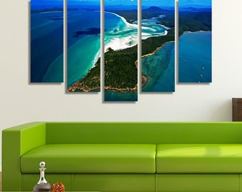 LARGE XL The Great Barrier Reef Australia Canvas Wall Art Print Home Decoration - Framed and Stretched - 4011