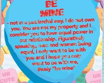 Feminist Valentines Day Card, Funny Valentine For Her, Feminist Valentine,  Feminist Love Card