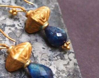 FUNDANA Labradorite & bali vermeil earrings | SA•KU Augustae collection 6