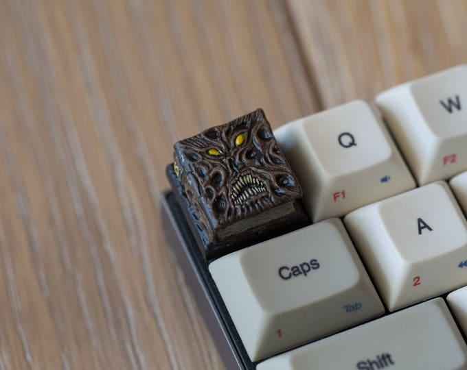 The Necronomicap - Klaatu barada nikto Cherry MX Keycap (Hand Painted & Custom Text)