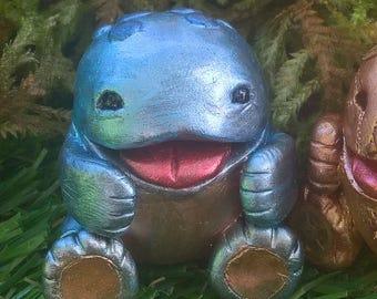 1 figurine inspired metallic blue Quaggan