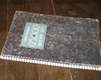 1933 Betty Crocker's 25,000 dollar Recipe Set Cookbook