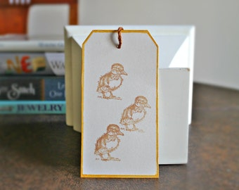 Recyled paper gift tags | duck design paper tags (set of 10)
