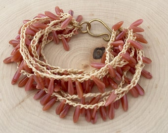 Sea Anemone Boho Beach Bracelet
