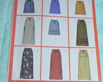 Butterick 3201  Misses Skirt Sewing Pattern UNCUT - Size 14 16 18