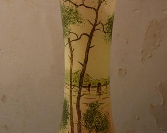 Glass vase style Legras / landscape