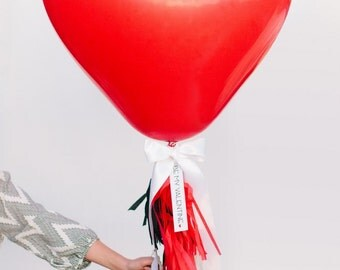 Giant Heart Shaped Balloon | Large Heart Balloon | Wedding Balloons | 36 Inch Balloon