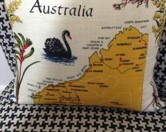 Handmade Western Australia Linen Tea Towel Cushion