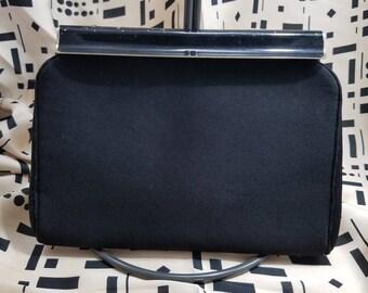 Classic Harry Levin Evening Bag/Clutch in Black Fabric