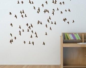 Flock of Birds Wall Decal • Flying Birds Wall Decal • Migratory Birds • Home Decor • Interior Design • Wall Art • Stickers