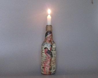 Print Beer Bottle Candle Holder