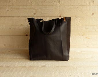 Leather shopper / brown leather shopper / handmade leather bag / leather shopping bag