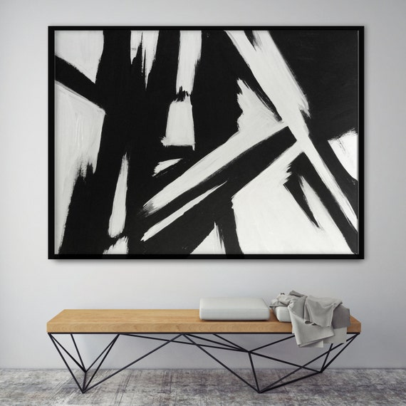 Abstract Black & White Slash No. 1