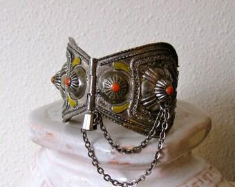 Enameled Metal Berber Bracelet