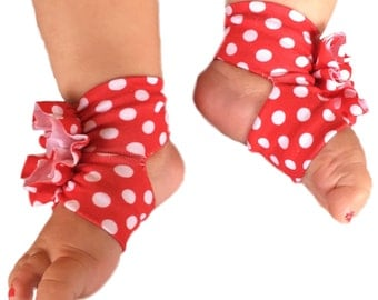 Minnie Mouse Shoes - Baby Disney Clothes - Polka Dot Shoes - Baby Girl Shoes - Baby Sandals - Red and White Polka Dot - Baby Shoes - Shoes