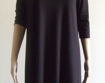 The p'tite dress babydoll black sleeved 1/2 beautiful soft black Jersey