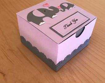 purple elephant baby shower favors girl baby shower favor box girl 1st birthday party