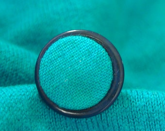 Blue line/big ring/big ring/ring 2 buttons/blue on Silver 925-adjustable bracket