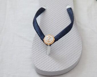 Nautical Anchor Flip Flops