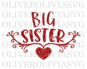Big Sister SVG, Big Sister PNG, Big Siter Cut File, Big Sister baby announcement, Big Sister SVG, Big Sister again svg, Big Sis svg
