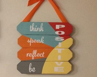 Think Positive Wall Art