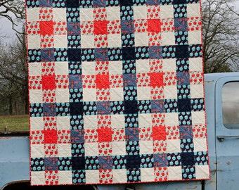 Homemade Picnic Plaid Quilt