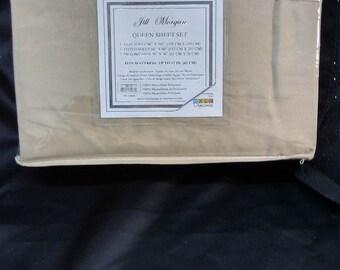 New Jill Morgan Khaki Queen Sheet Set