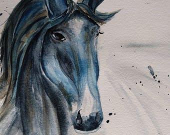 Original Horse Medicine Watercolor Painting