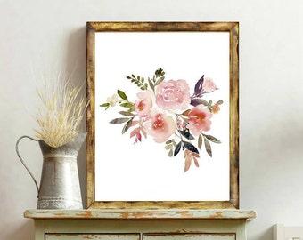 Nursery Watercolor, Nursery Prints, Nursery Decor Girl, Floral Nursery Print, Floral Print Art, Floral Printables, Nursery Decor Wall Art