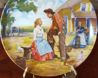 Oklahoma the musical collectors plate Rodgers and Hammerstein artis Mort Kunstler Oh What a Beautiful Morning scene from movie