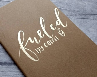 Ruled Medium Moleskine With Hand-painted Gold Lettering