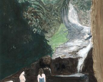 "Waterfall Painting 8x10"""